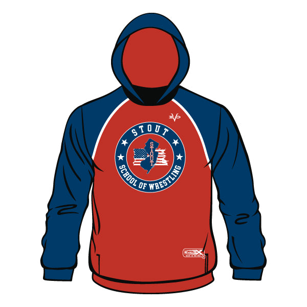 STOUT WRESTLING HOODIE (RED)
