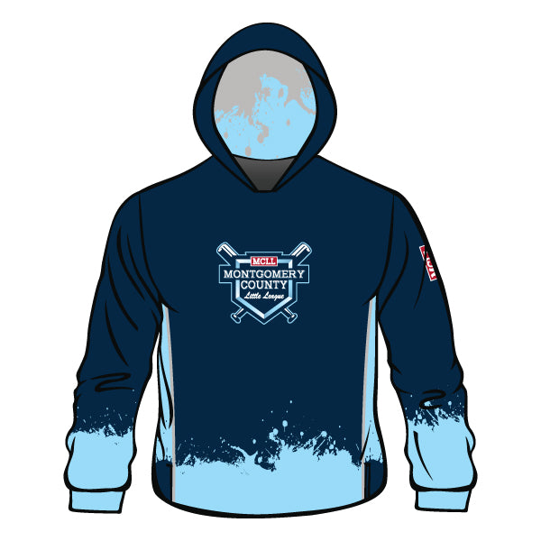 Evo9x MONTGOMERY LITTLE LEAGUE Full Dye Sublimated Hoodie Splatter
