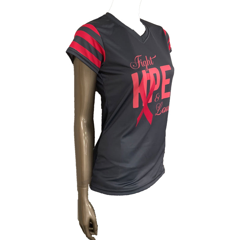 WOMENS EVO FIGHT HOPE LOVE SHIRT