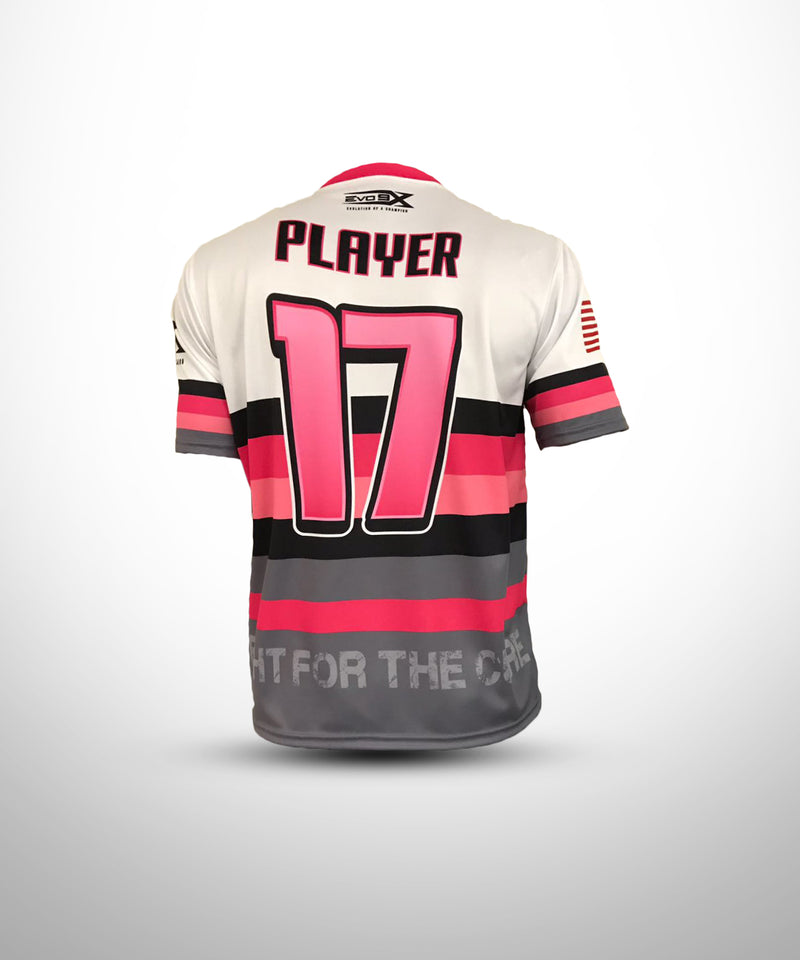 "Pink and White ""Hope"" Striped Jersey"