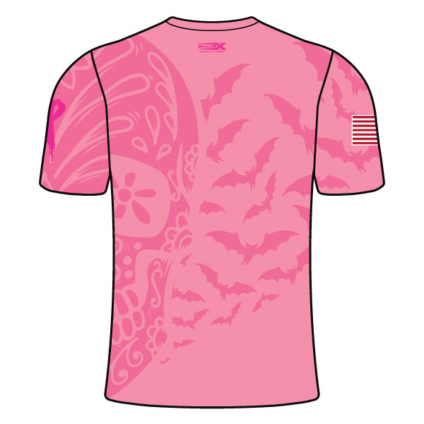 Evo9x WEAR PINK IN OCTOBER Crew Neck Short Sleeves Jersey For Men in Pink Color
