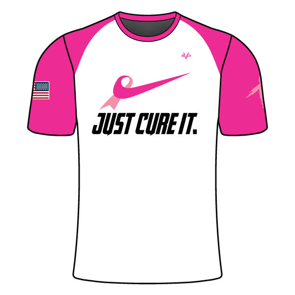 Evo9x JUST CURE IT Crew Neck Pink Short Sleeves Jersey For Men