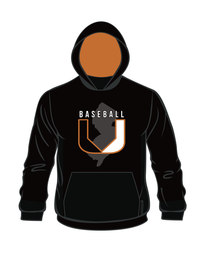 Evo9x BASEBALL U Full Dye Sublimated Pullover Hoodie Black