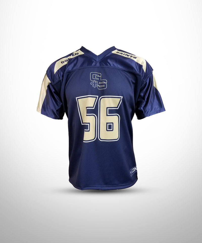Full Dye Sublimated Fan Jersey NVY GOLDEN SAINTS