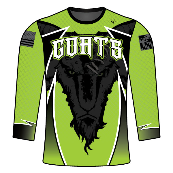 GOATS Full Dye Sublimated Long Sleeve Shirt Lime