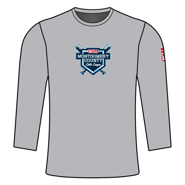 Evo9x MONTGOMERY LITTLE LEAGUE Full Dye Sublimated Long Sleeve Shirt