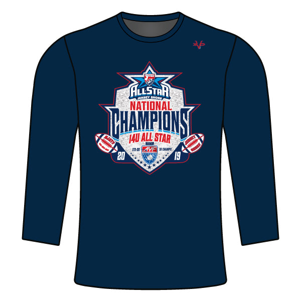 NATIONAL CHAMPION LOGO LONG SLEEVE SHIRT