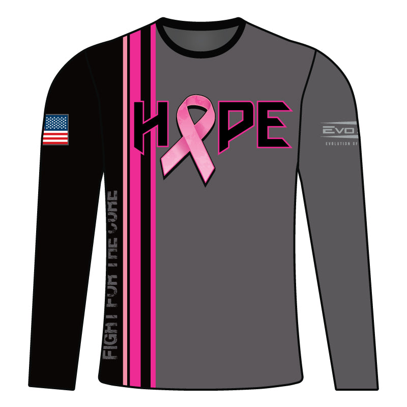Full Dye Sublimated Long sleeve Jersey PNK GRY RTRO STRP HOPE