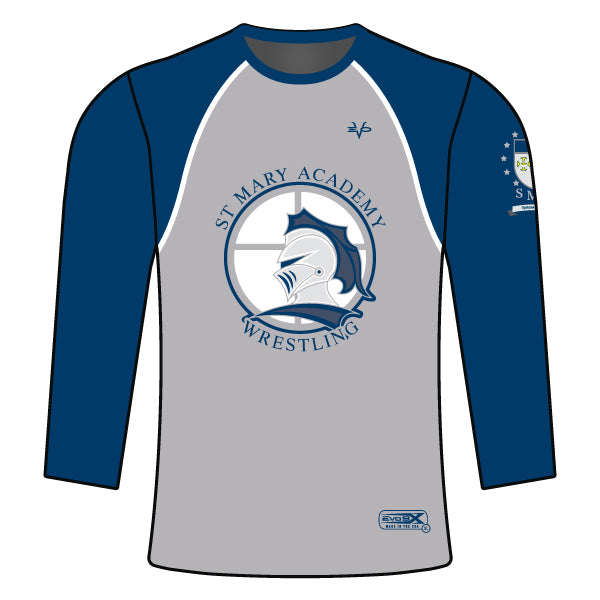 ST. MARY ACADEMY LONG SLEEVE SHIRT (GREY)