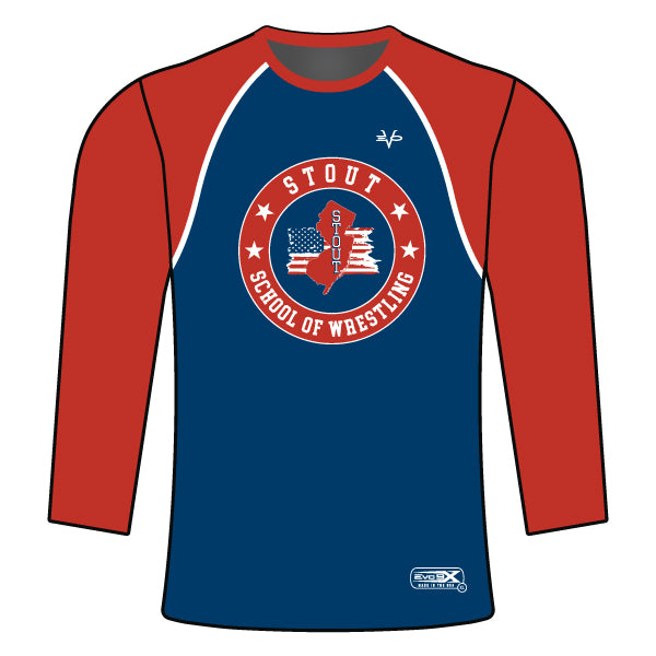 STOUT WRESTLING LONG SLEEVE SHIRT (NAVY)