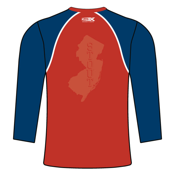 STOUT WRESTLING LONG SLEEVE SHIRT (RED)