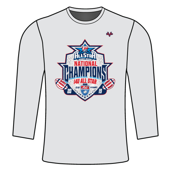 NATIONAL CHAMPION LOGO LONG SLEEVE SEMI SUB SHIRT