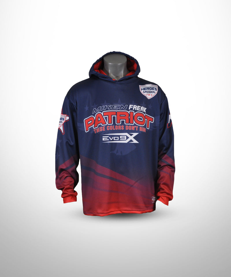Full Dye Sublimated Hoodie NVY RED PATRIOT