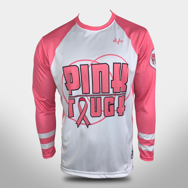 Evo9x EVO PINK TOUGH Full Sublimated Breast Cancer Awareness Jersey