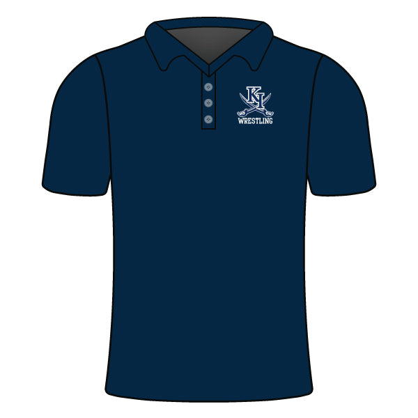 KENT ISLAND WRESTLING POLO SHIRT (NEW LOGO)