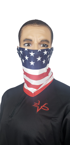 Evo9X US FLAG Ear Loop Gaiters | Totally Customizable