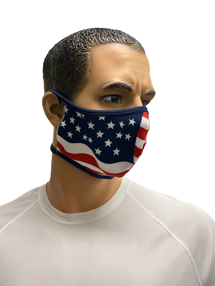 Evo9x AMERICAN FLAG Tie Back Fabric Face Mask - Pack Of 10