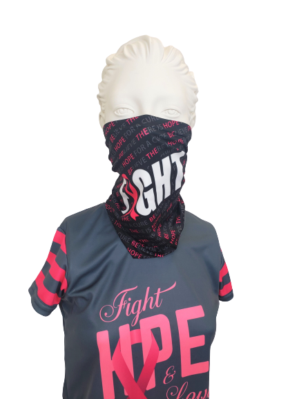 EVO9X FIGHT Sublimated Breast Cancer Awareness Gaiter Black