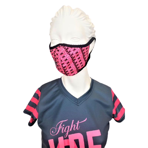 Evo9x HOPE FOR A CURE Breast Cancer Awareness Fabric Face Mask