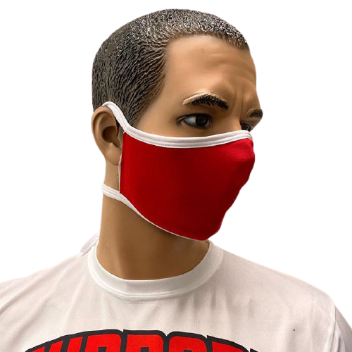 Evo9x Tie Back Double Ply Fabric Face Masks Red - Pack of 10