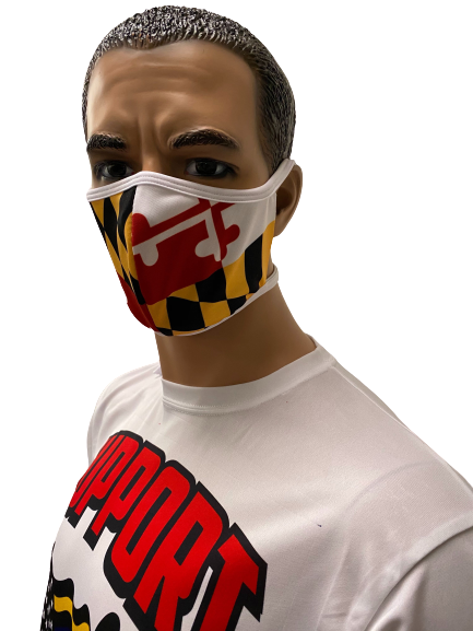 Evo9x MARYLAND FLAG Tie Back Fabric Face Masks Pack Of 10