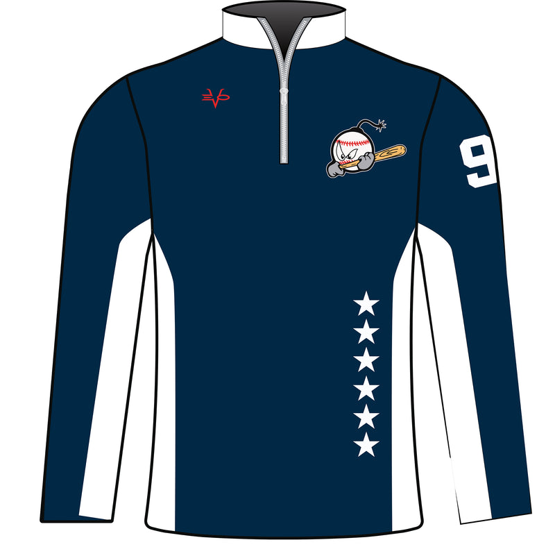 SUBLIMATED 1/4 ZIP PULLOVER BOMBERS