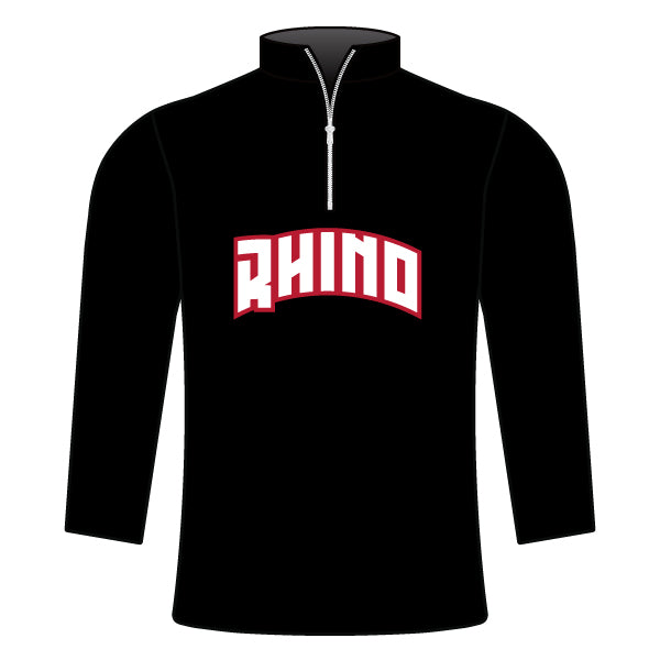 RHINO WRESTLING 1/4 ZIP JACKET (WITH NAME)
