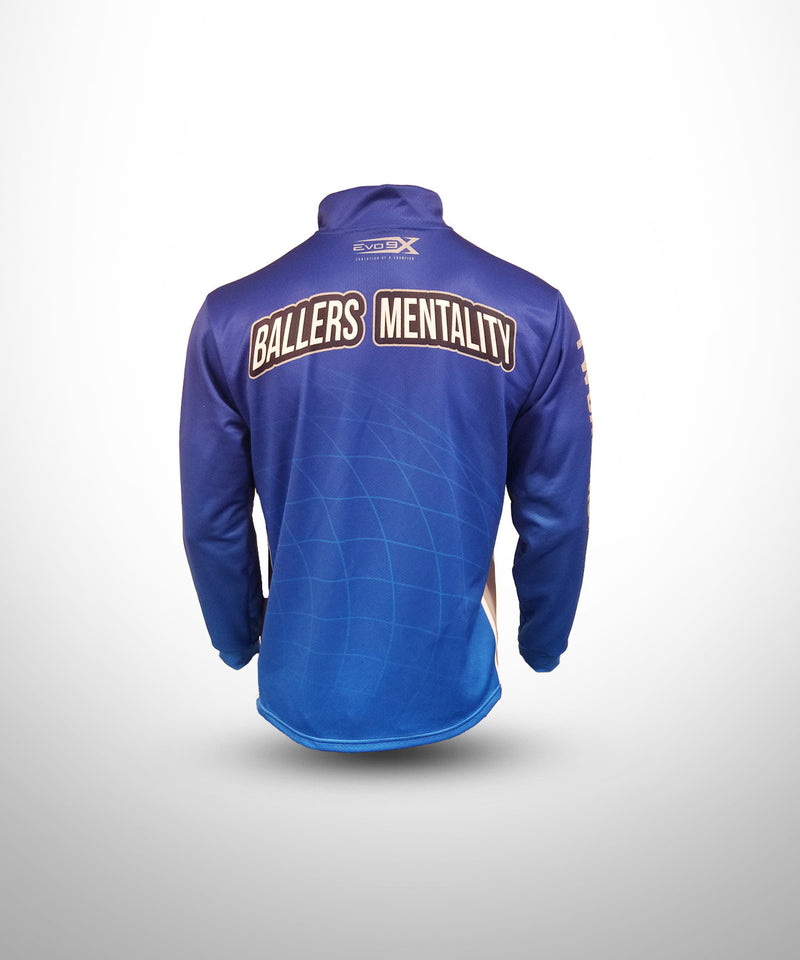 Full Dye Sublimated 1/4 Zip Pullover BLU YW BALLERS