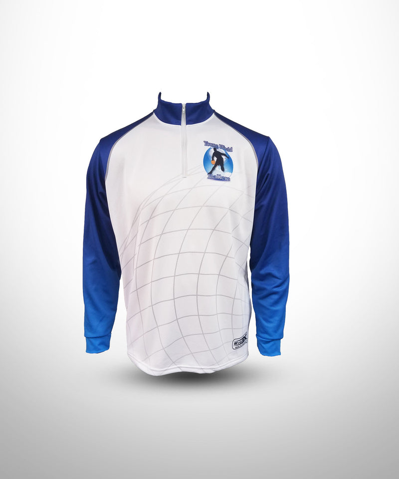 Full Dye Sublimated 1/4 Zip Pullover WHT YW BALLERS