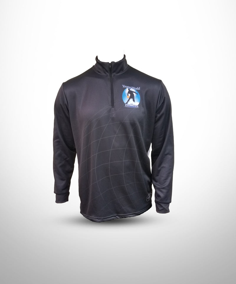 Full Dye Sublimated 1/4 Zip Pullover BLK YW BALLERS