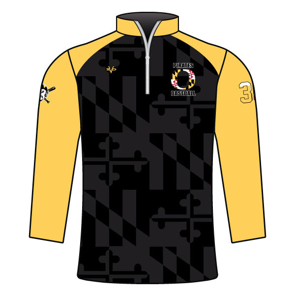 Evo9x OLNEY PIRATES Baseball Full Dye Sublimated Baseball 1/4 Zip Jacket