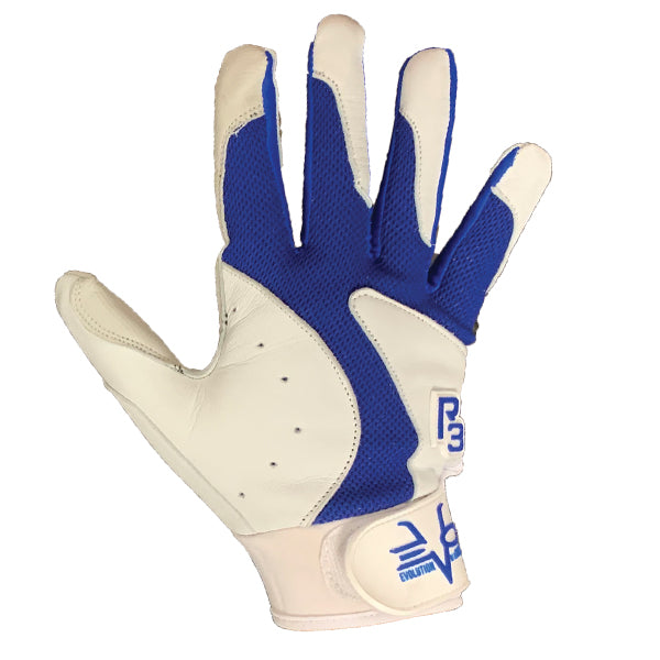 Evo9x R3 Cool Mesh Adjustable Batting Gloves White/Blue