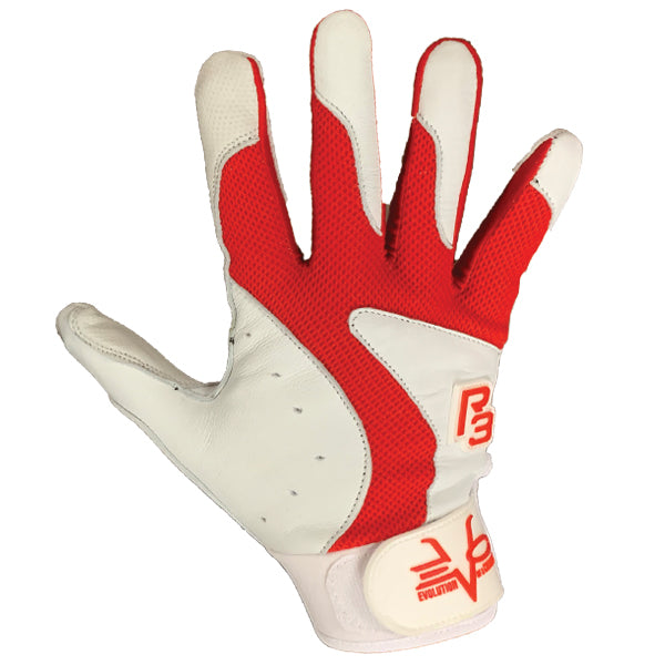 R3 BATTING GLOVES RED