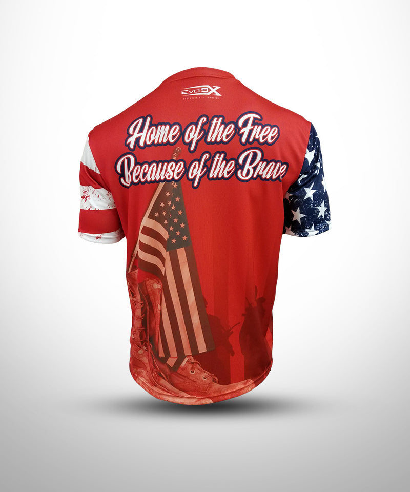 Evo9x RED PAT Full Dye Sublimated Short Sleeve Jersey