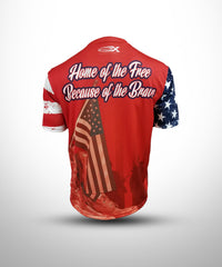 Full dye Sublimated short sleeve Jersey PAT1-Red