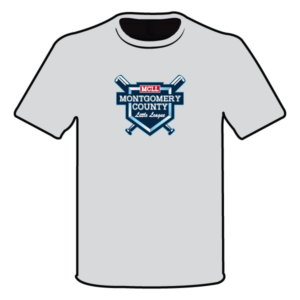 Evo9x MONTGOMERY LITTLE LEAGUE Semi Sublimated Shirt Grey