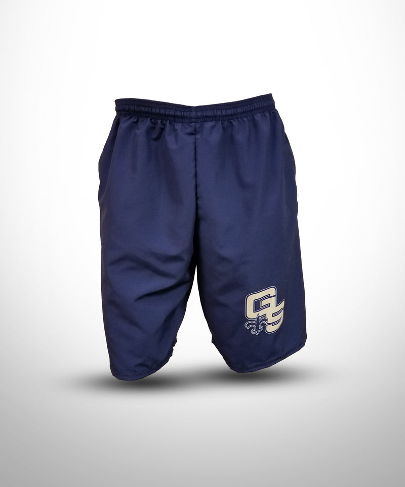 Full Dye Sublimated Micro Fiber Shorts NVY GOLDEN SAINTS
