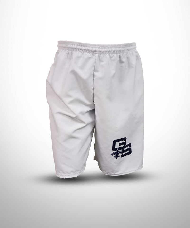 Full Dye Sublimated Micro Fiber Shorts WHT GOLDEN SAINTS