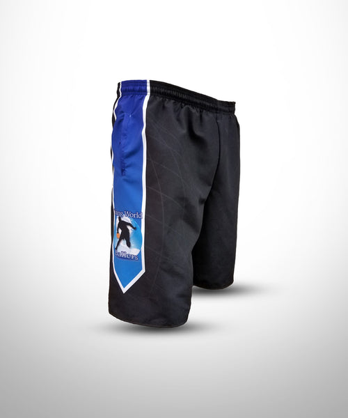 Full dye Sublimated Micro Fiber Shorts YWB-Black