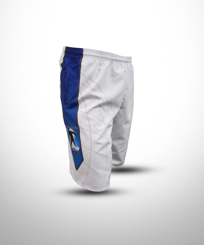 Full Dye Sublimated Micro Fiber Shorts WHT YW BALLERS