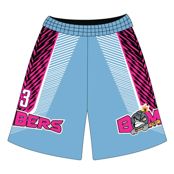 Evo9x BOMBERS Full Dye Sublimated Fastpitch Shorts