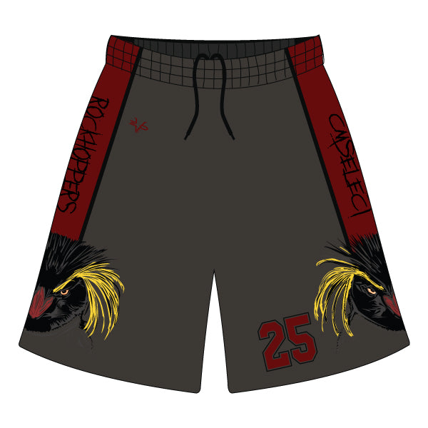 Evo9x CM SELECT ROCKHOPPERS Full Dye Sublimated Shorts (Charcoal)
