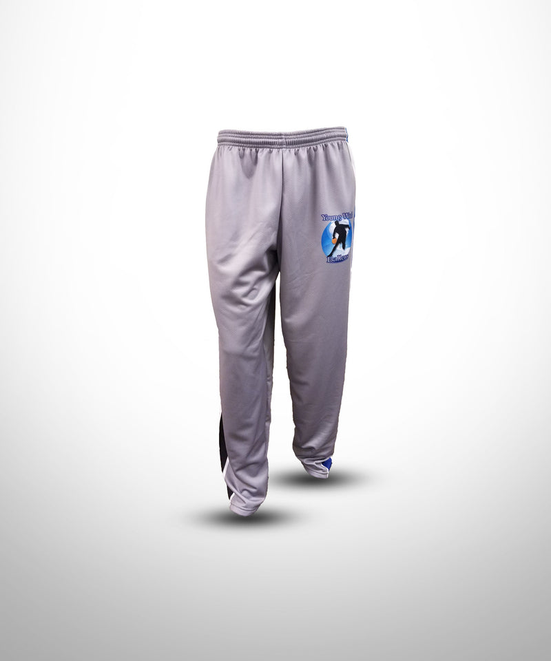 Full Dye Sublimated Sweat Pants Baseball GRY YW BALLERS