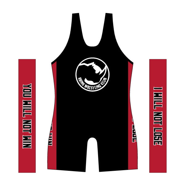 RHINO WRESTLING SINGLET (NO NAME/PERSONALIZATION)