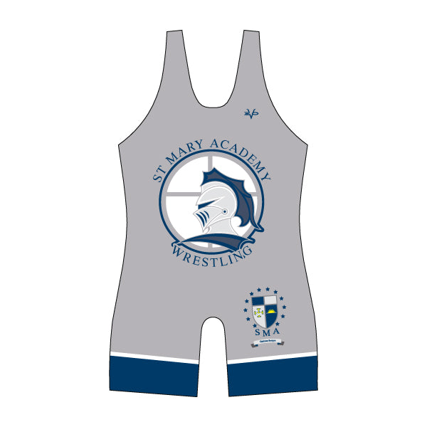 ST. MARY ACADEMY WRESTLING SINGLET (GREY)