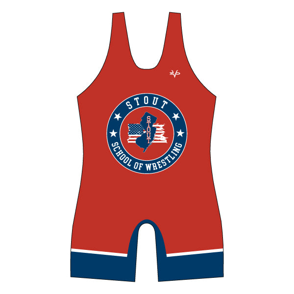 STOUT WRESTLING SINGLET (RED)