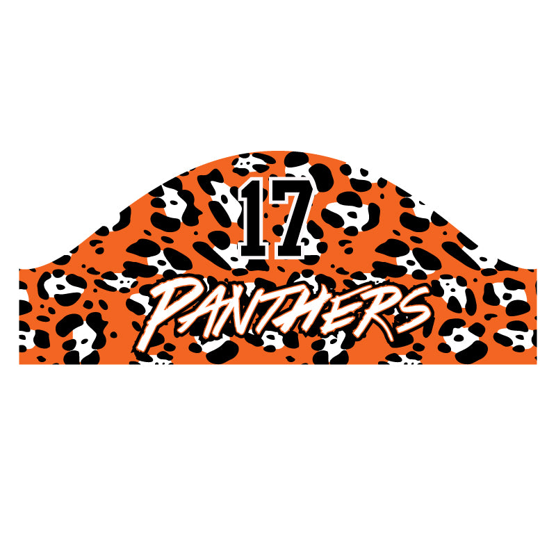 PANTHERS SUBLIMATED SKULL WRAP PRINT