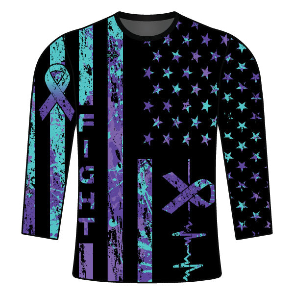 Evo9x FIGHT WITH CANCER Full Sleeves Jersey For Men