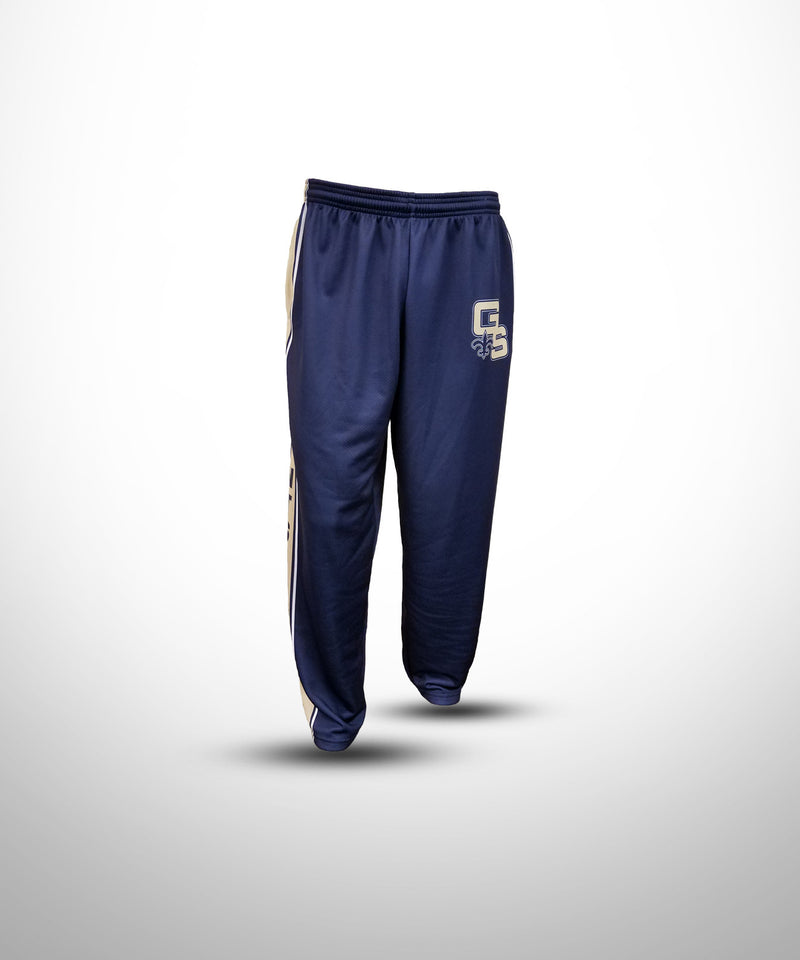Full Dye Sublimated Sweat Pants NVY GOLDEN SAINTS