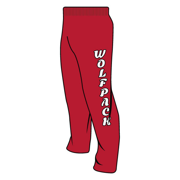 MANALAPAN WOLFPACK SWEATPANTS (RED)